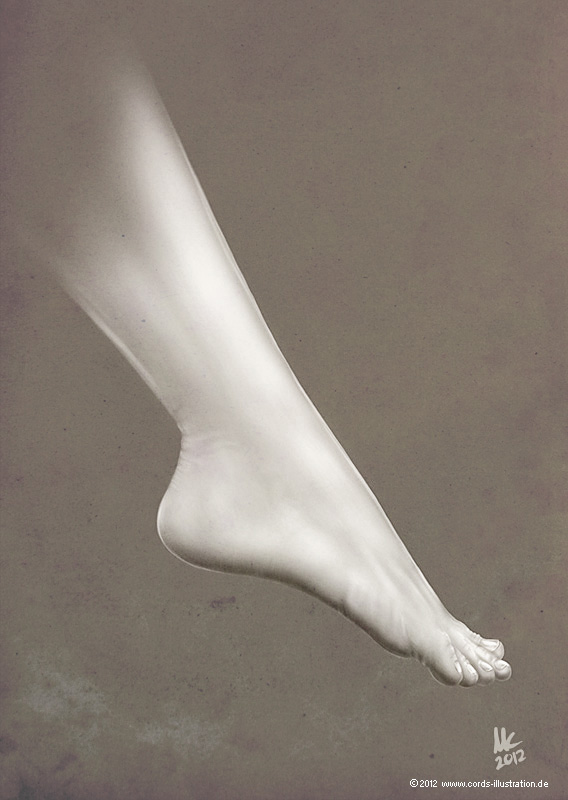 weiblicher Fuß