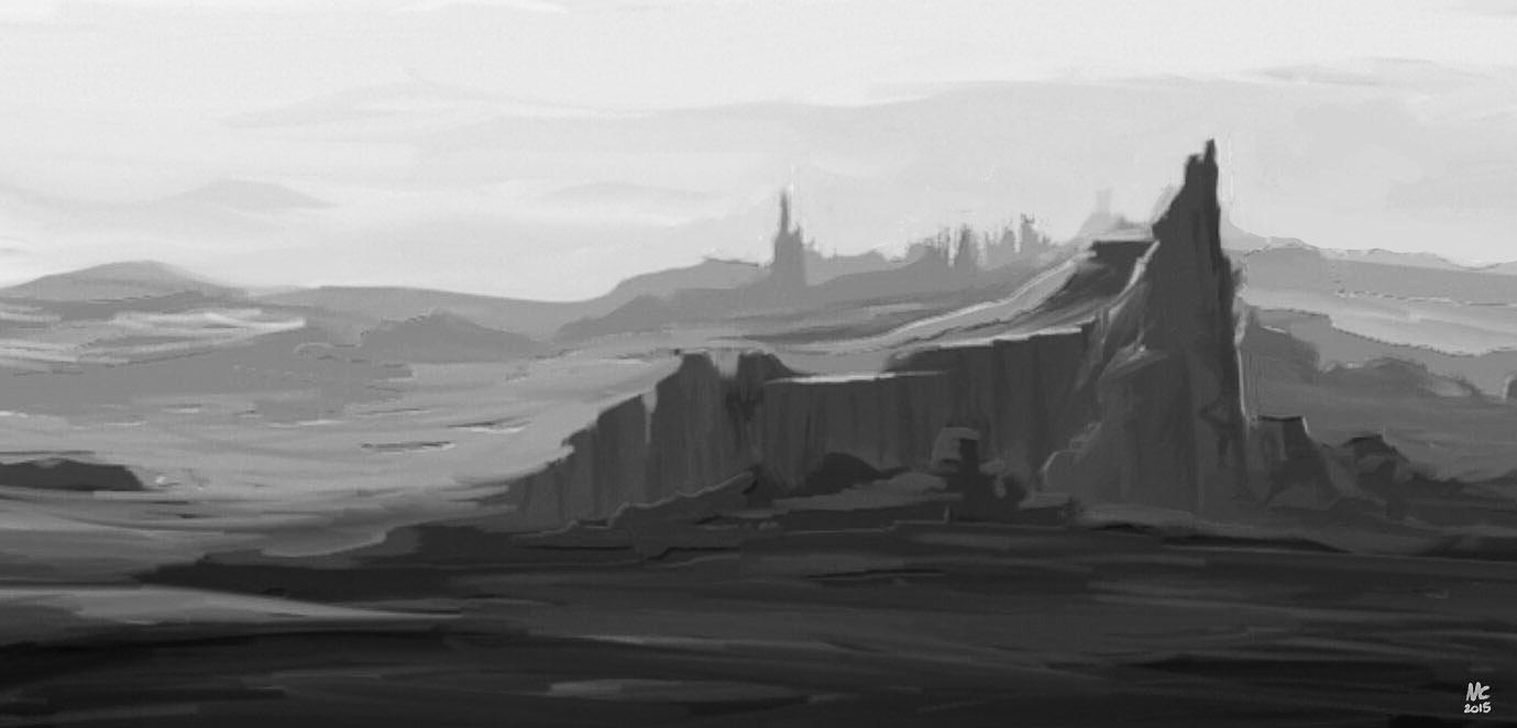 schnelle Skizze: Landschaft