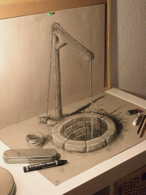 3D Bleistiftzeichnungen
