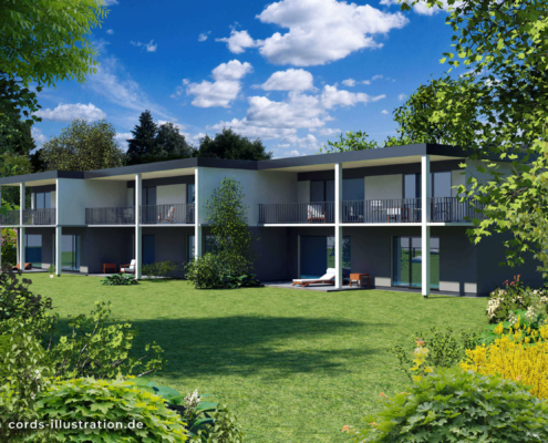 Visualisierung Mehrfamilienhaus 2