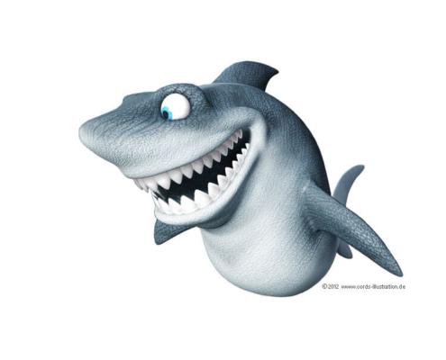Maskottchen Hai