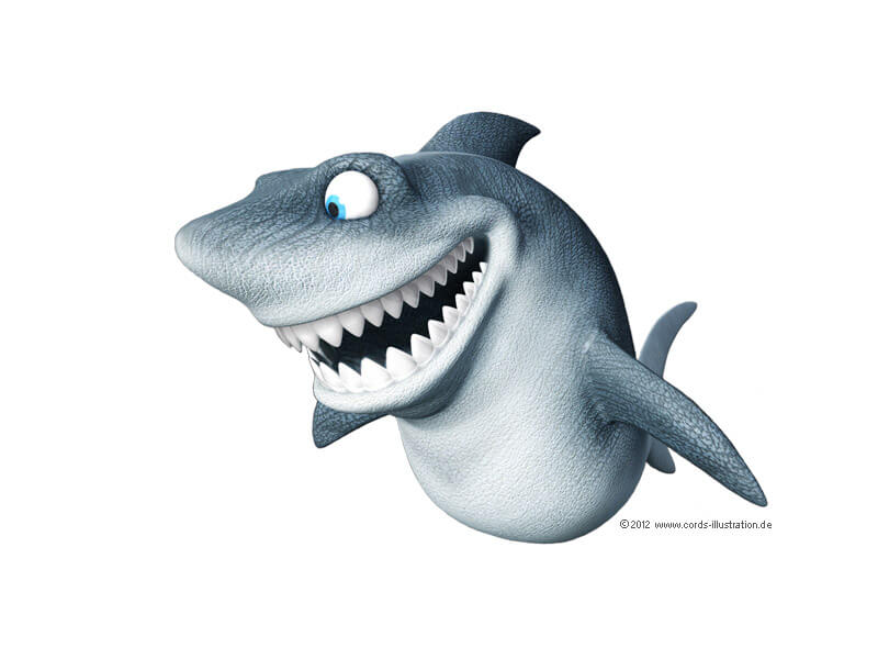 Hai als Maskottchen