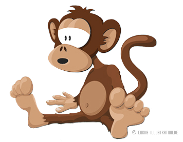 Maskottchen Affe