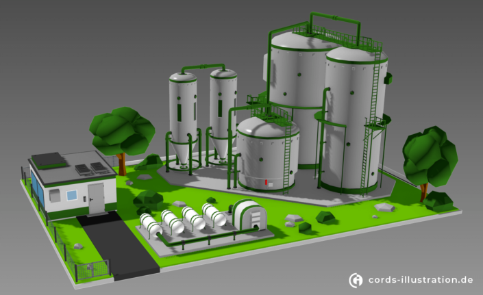 lowpoly-industrieanlage