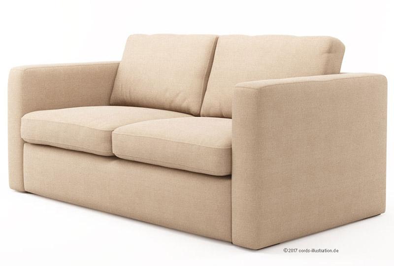 3D Visualisierung : Möbel ; Sofa